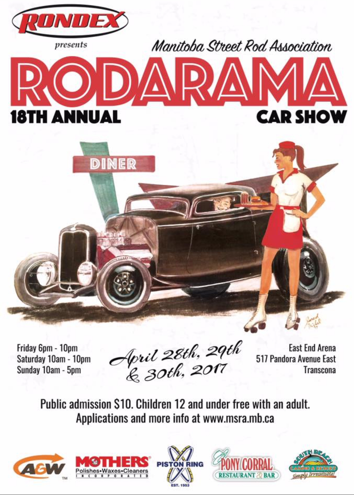 18th Annual Rodarama Classic Car Show in Winnipeg - Rondex